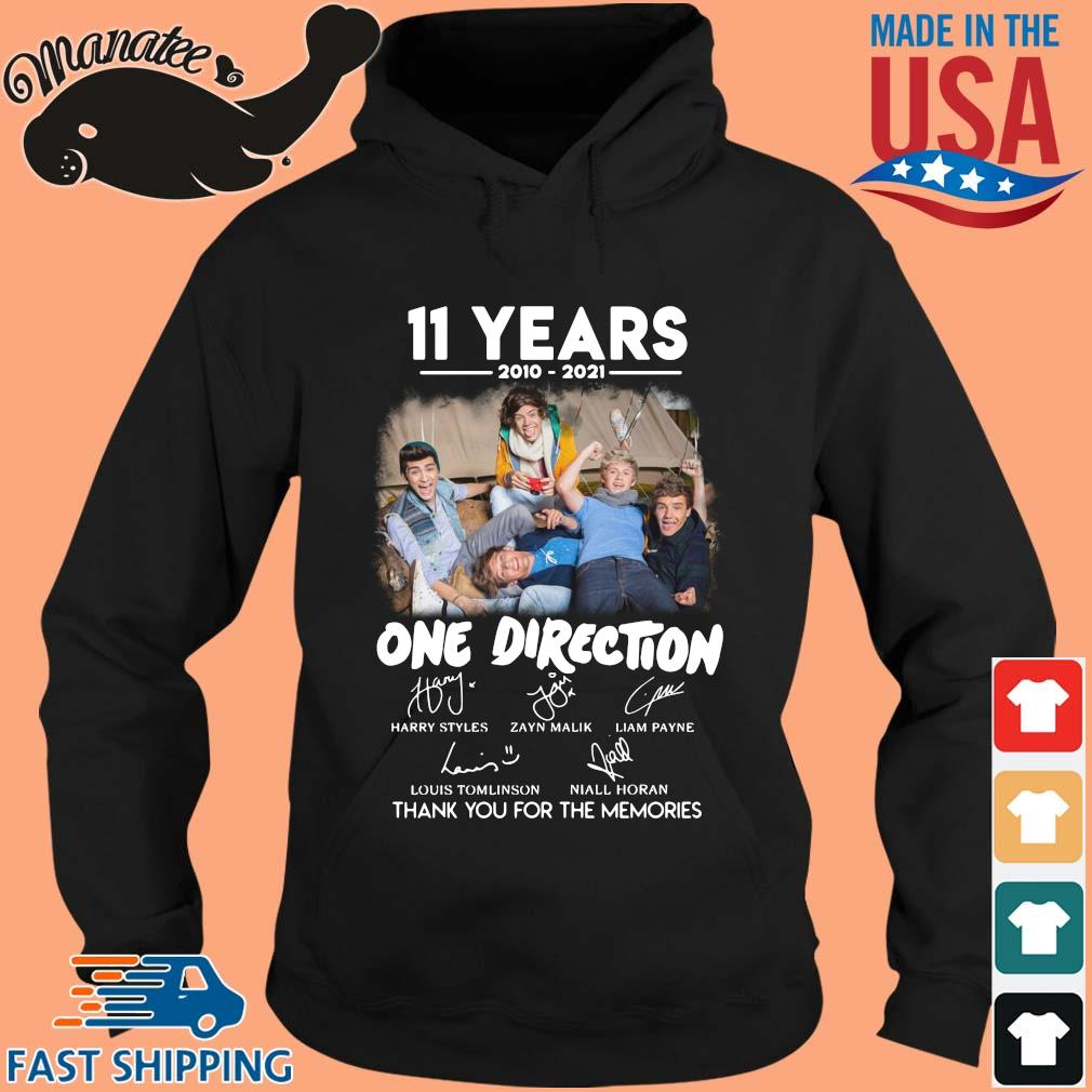 11 years 2010 2021 One Direction signatures thank you for the memories s hoodie den