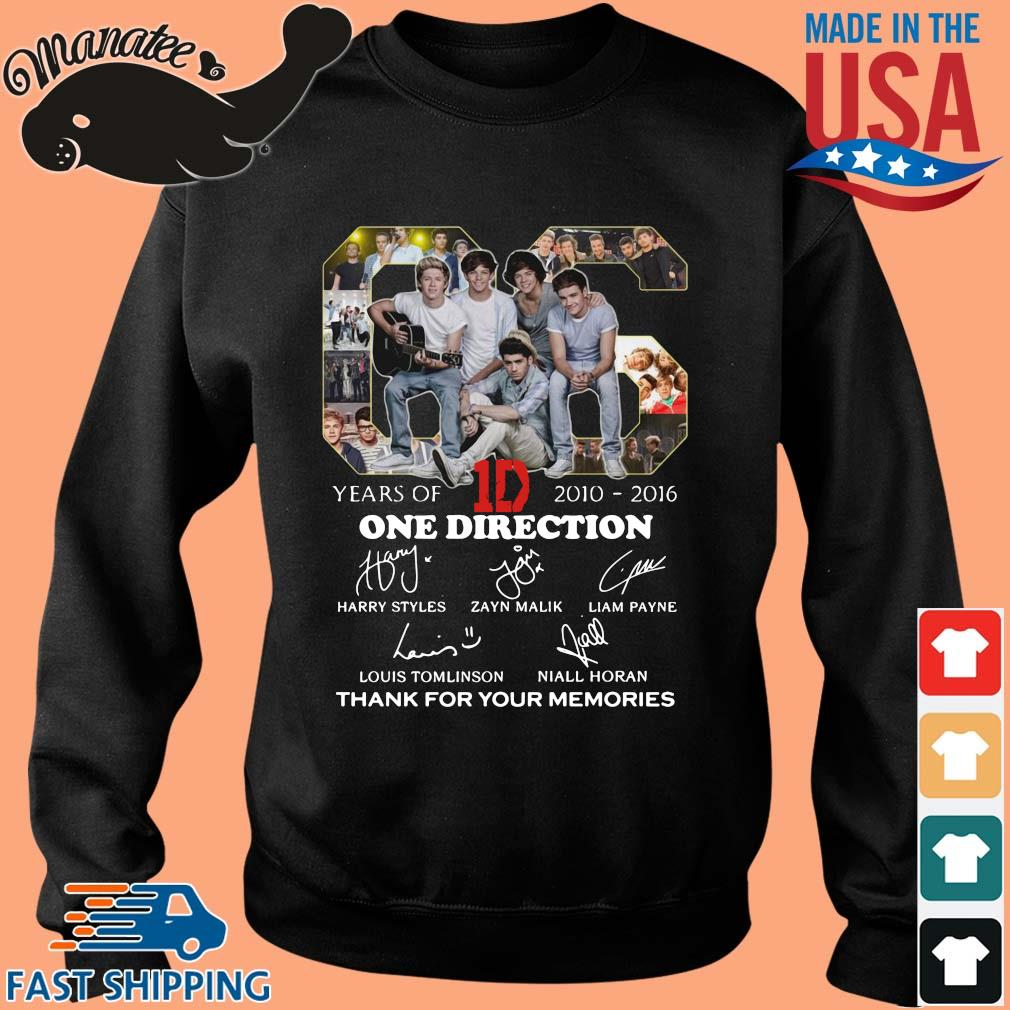 66 years of 2010-2016 One Direction thank for your memories signatures s Sweater den