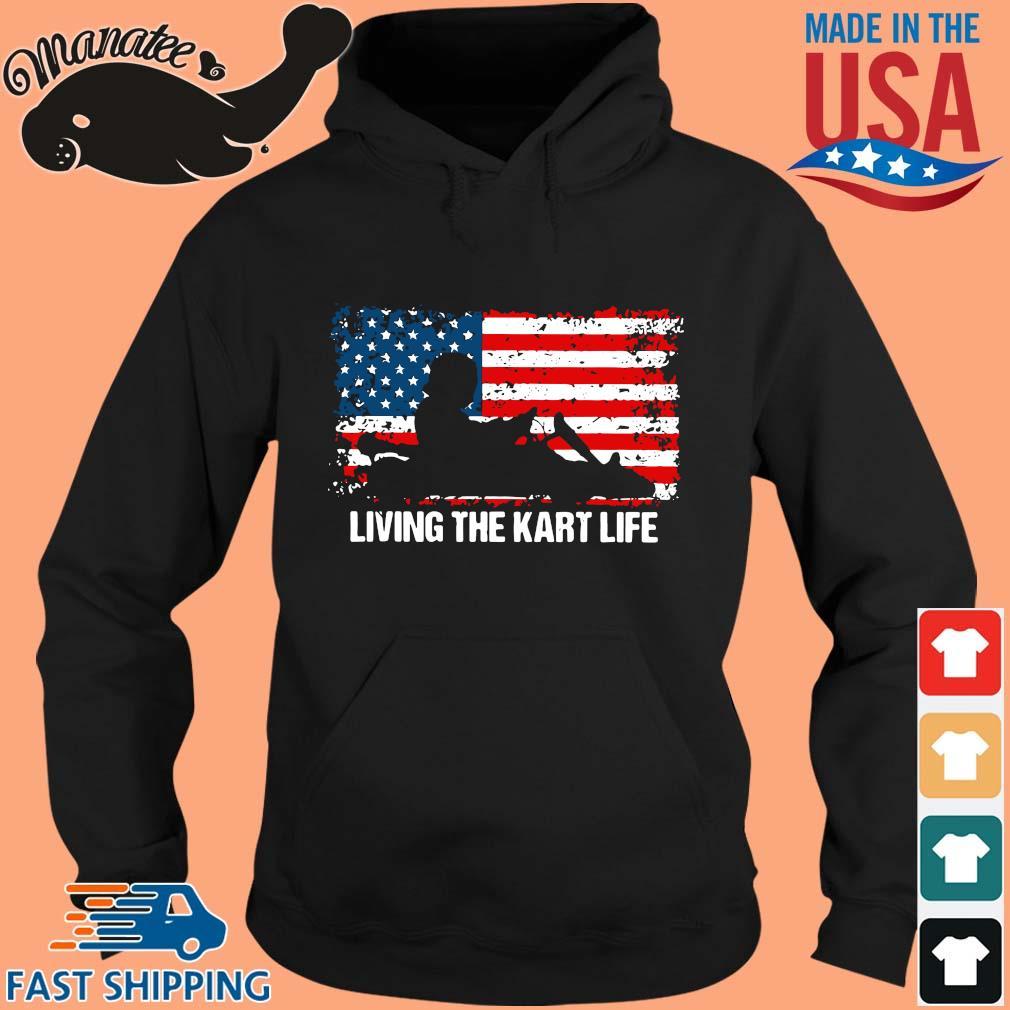 American flag living the kart life s hoodie den
