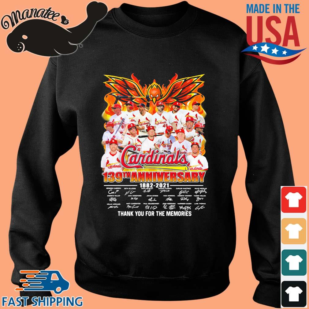 Cardinals 139th anniversary 1882-2021 thank you for the memories signatures s Sweater den