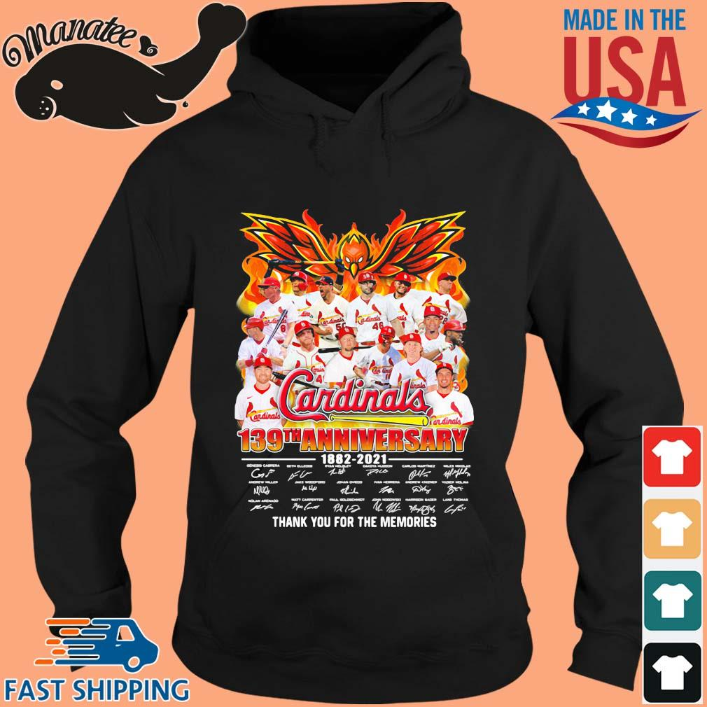Cardinals 139th anniversary 1882-2021 thank you for the memories signatures s hoodie den