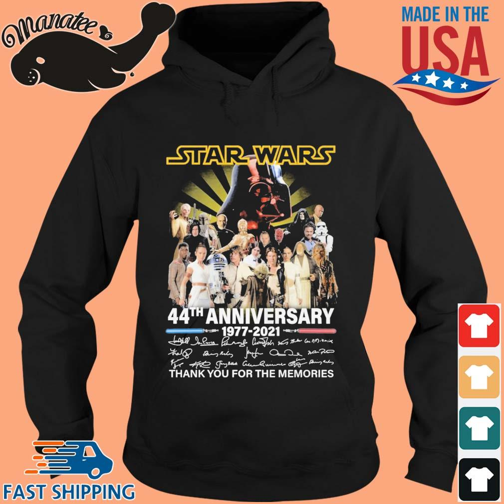 Star Wars 44th anniversary 1977-2021 thank you for the memories signatures s hoodie den