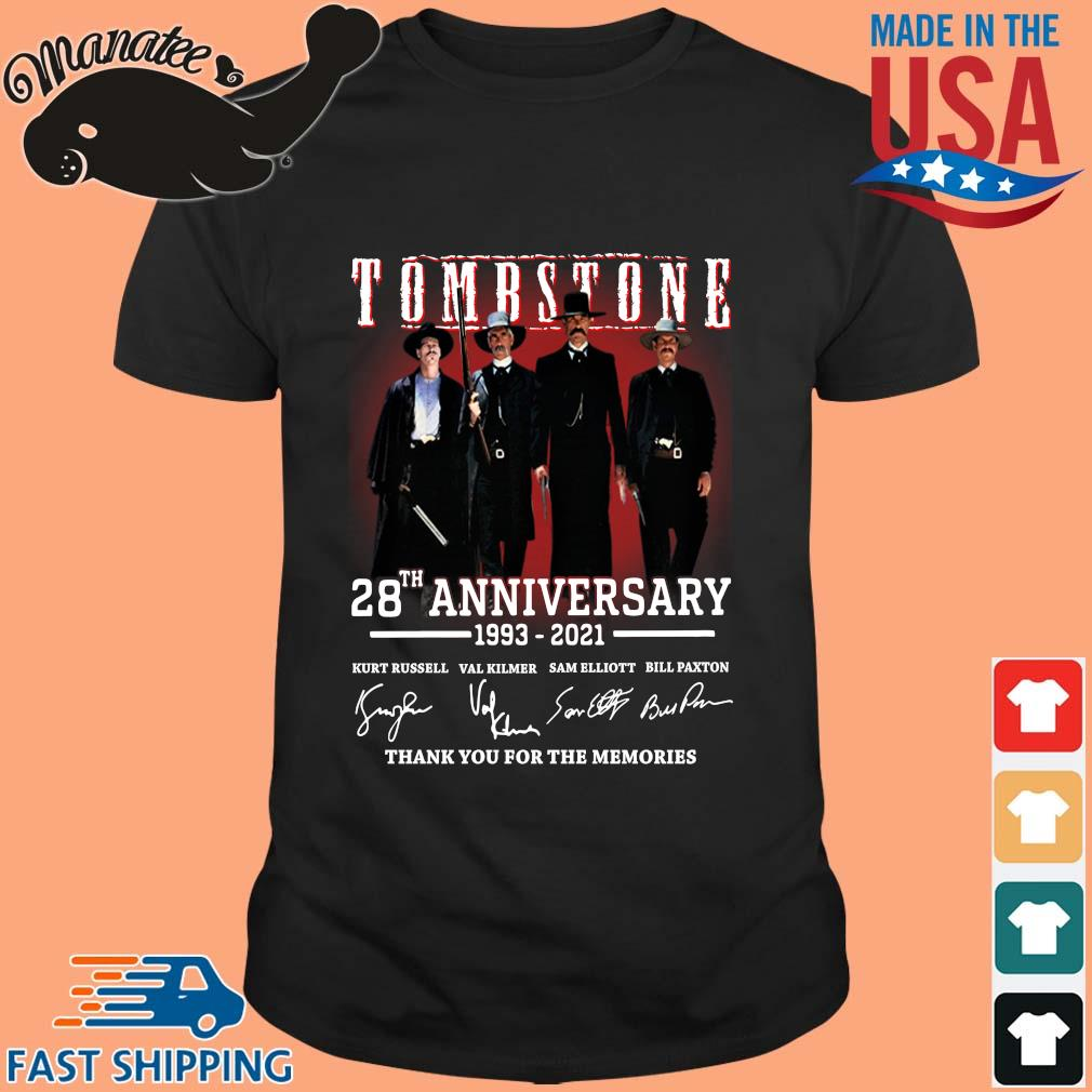 Tomb Stone 28th anniversary 1993-2021 thank you for the memories signatures shirt