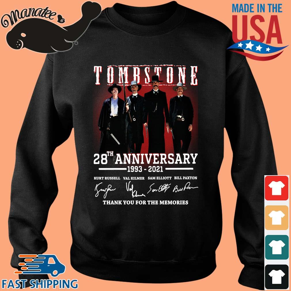 Tomb Stone 28th anniversary 1993-2021 thank you for the memories signatures s Sweater den
