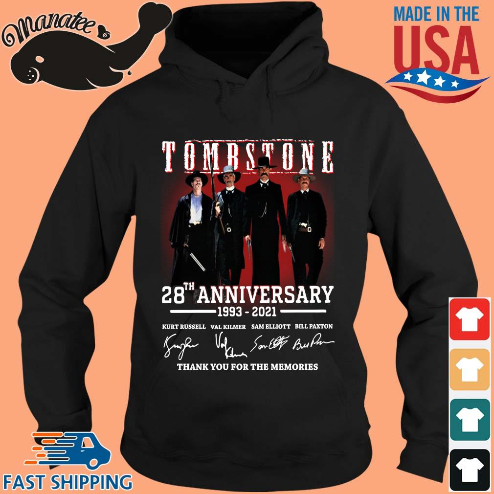 Tomb Stone 28th anniversary 1993-2021 thank you for the memories signatures s hoodie den