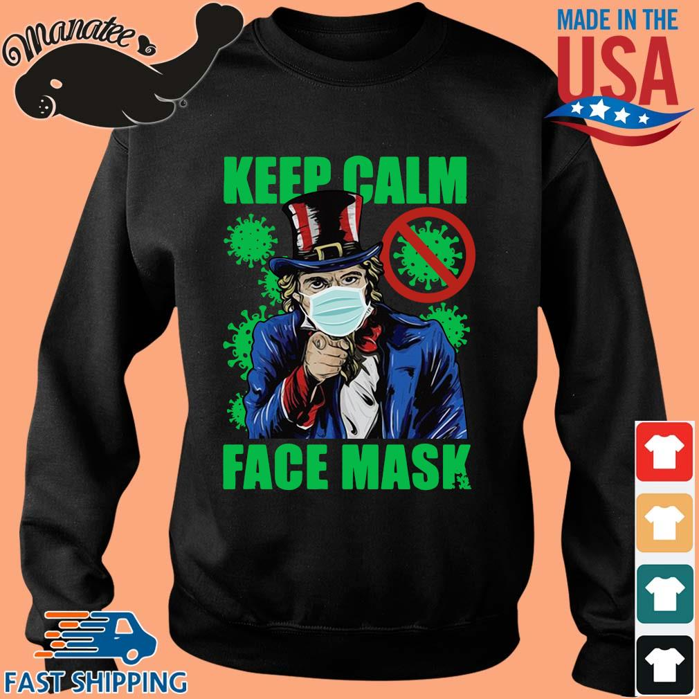 Uncle Sam keep calm face mask St Patrick's Day s Sweater den