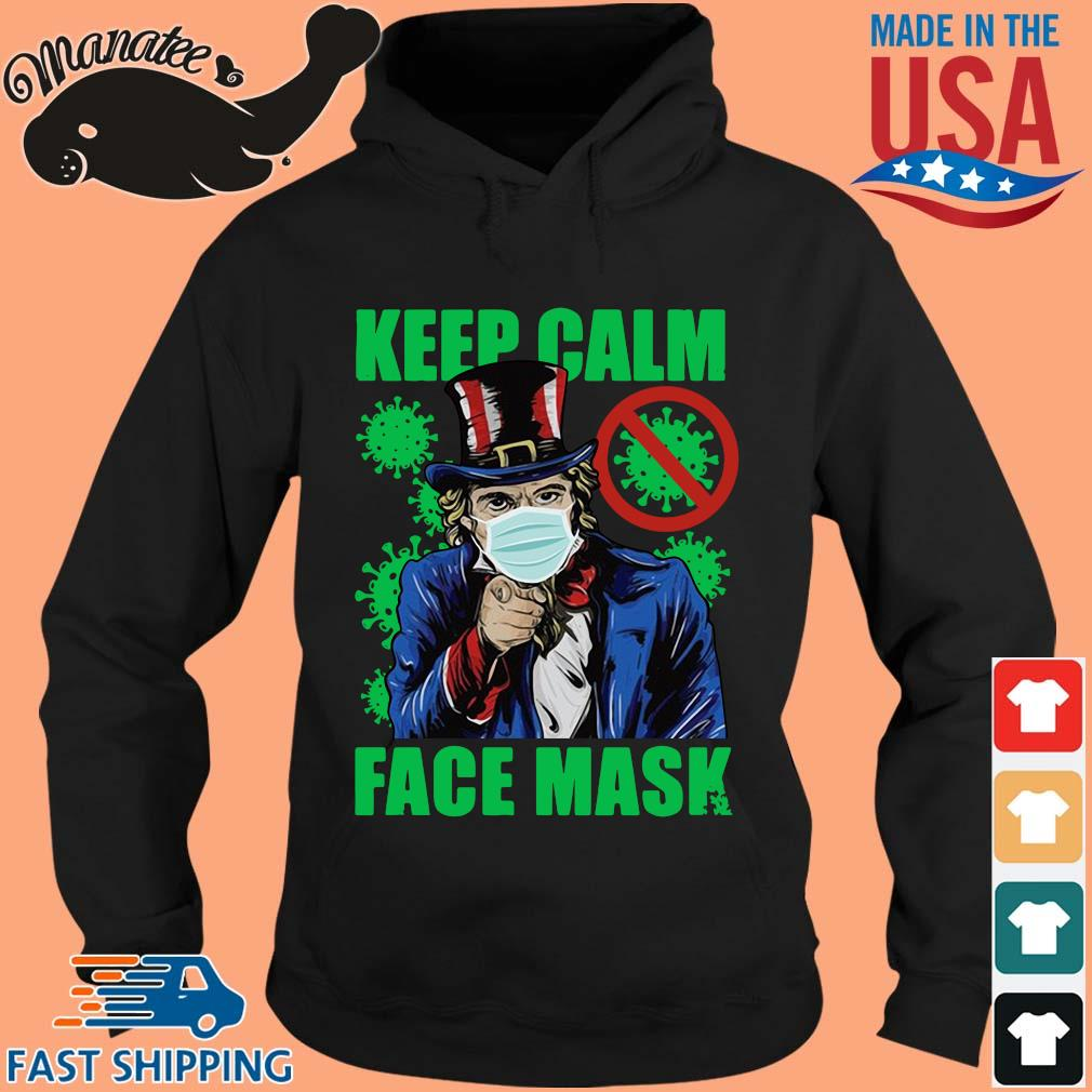 Uncle Sam keep calm face mask St Patrick's Day s hoodie den