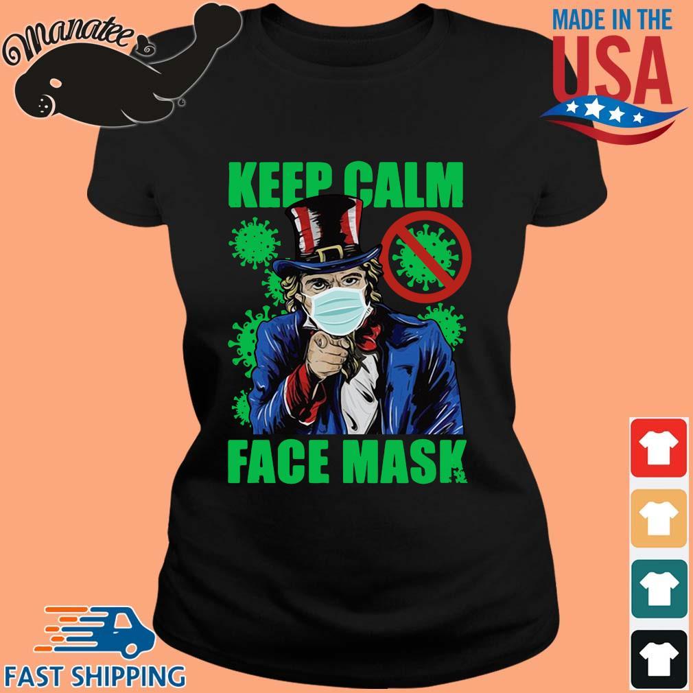 Uncle Sam keep calm face mask St Patrick's Day s ladies den
