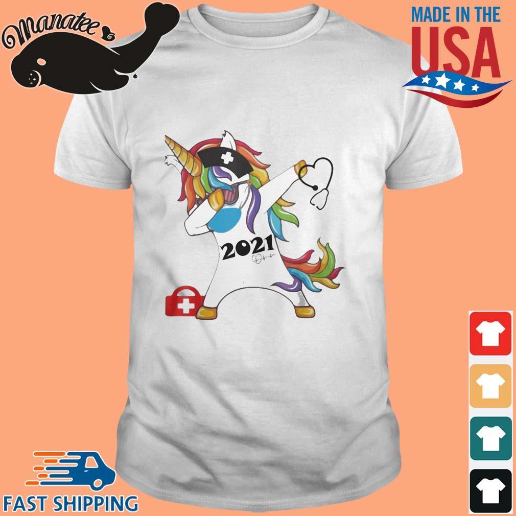Unicorn dabbing nurse 2021 shirt