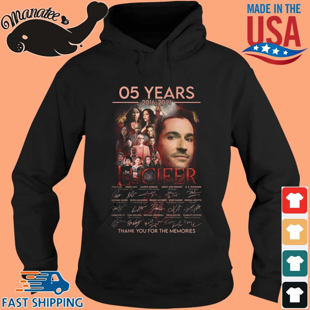 05 Years 2016 2021 Lucifer Thank You For The Memories Signatures Shirt hoodie den