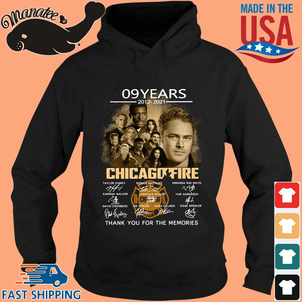 09 Years 2012 2021 Chicagofire Thank You For The Memories Signatures Shirt hoodie den