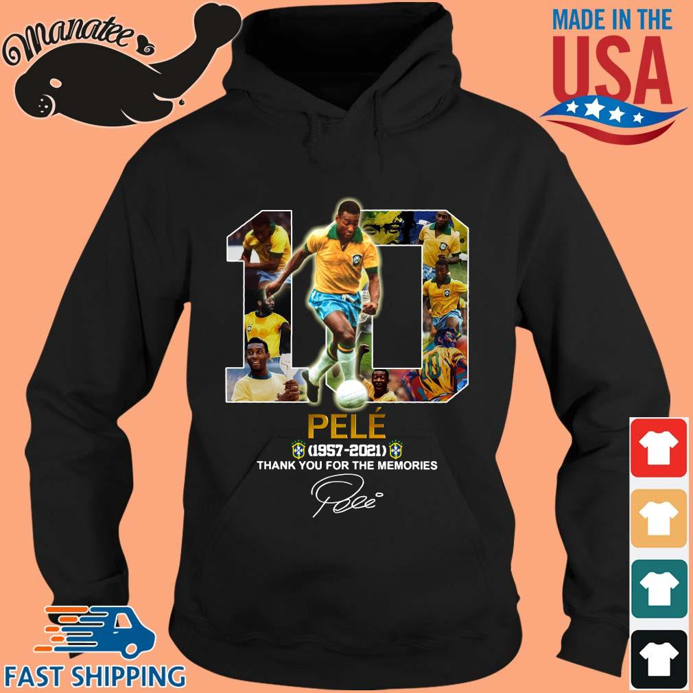 10 Pele 1957-2021 thank you for the memories signature s hoodie den