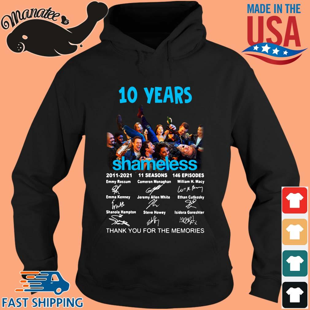 10 years Shameless 2011-2021 11 seasons 146 episodes thank you for the memories signatures s hoodie den