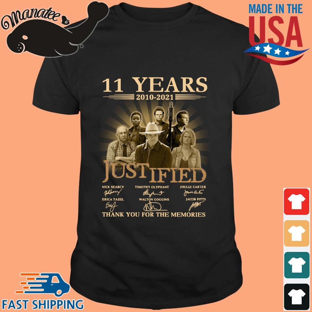11 Years 2010 2021 Justified Signatures Thank You For The Memories Shirt