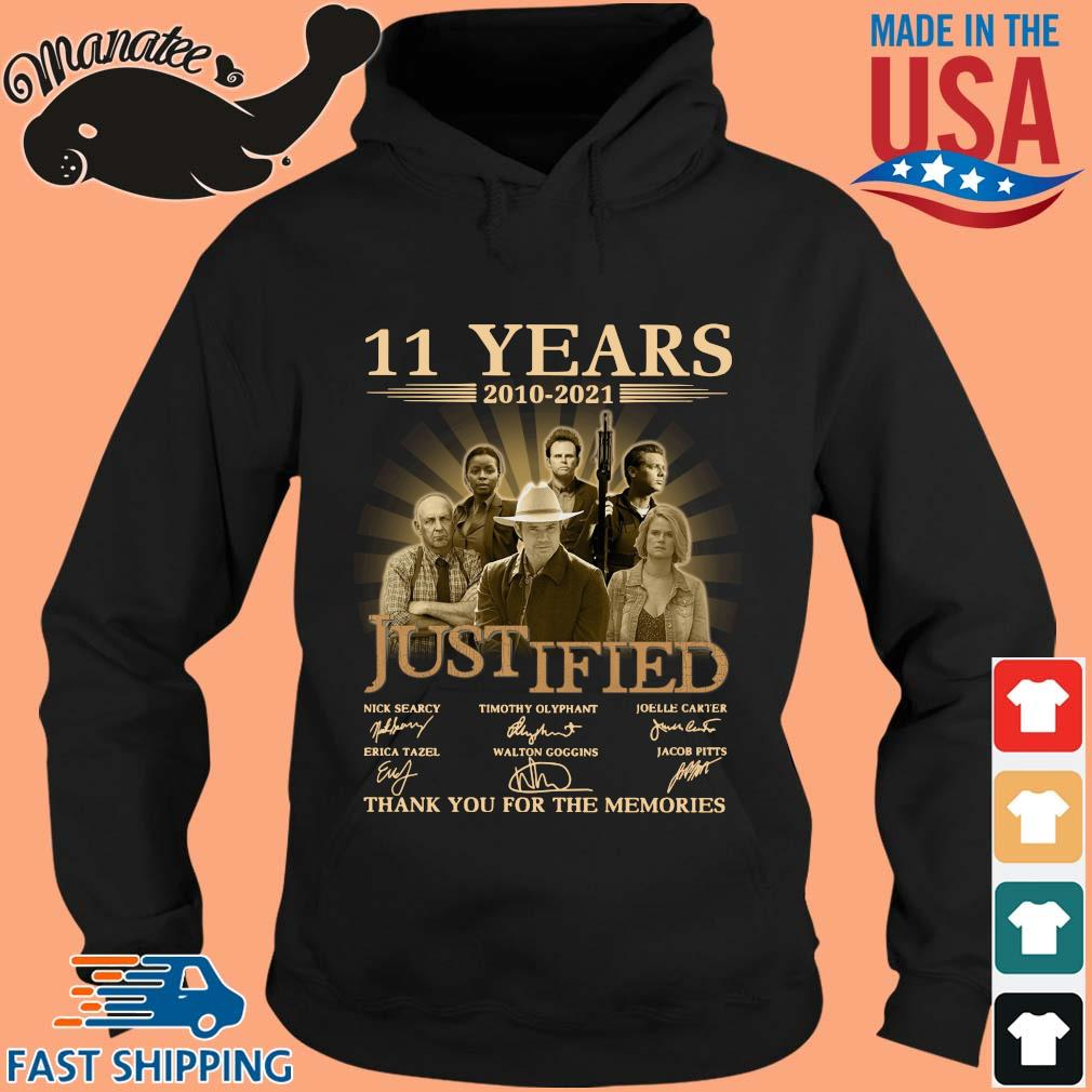 11 Years 2010 2021 Justified Signatures Thank You For The Memories Shirt hoodie den
