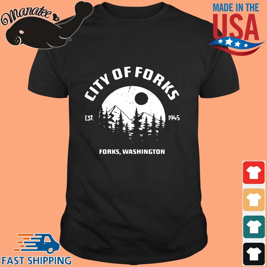 City of forks forks Washington est 1945 shirt