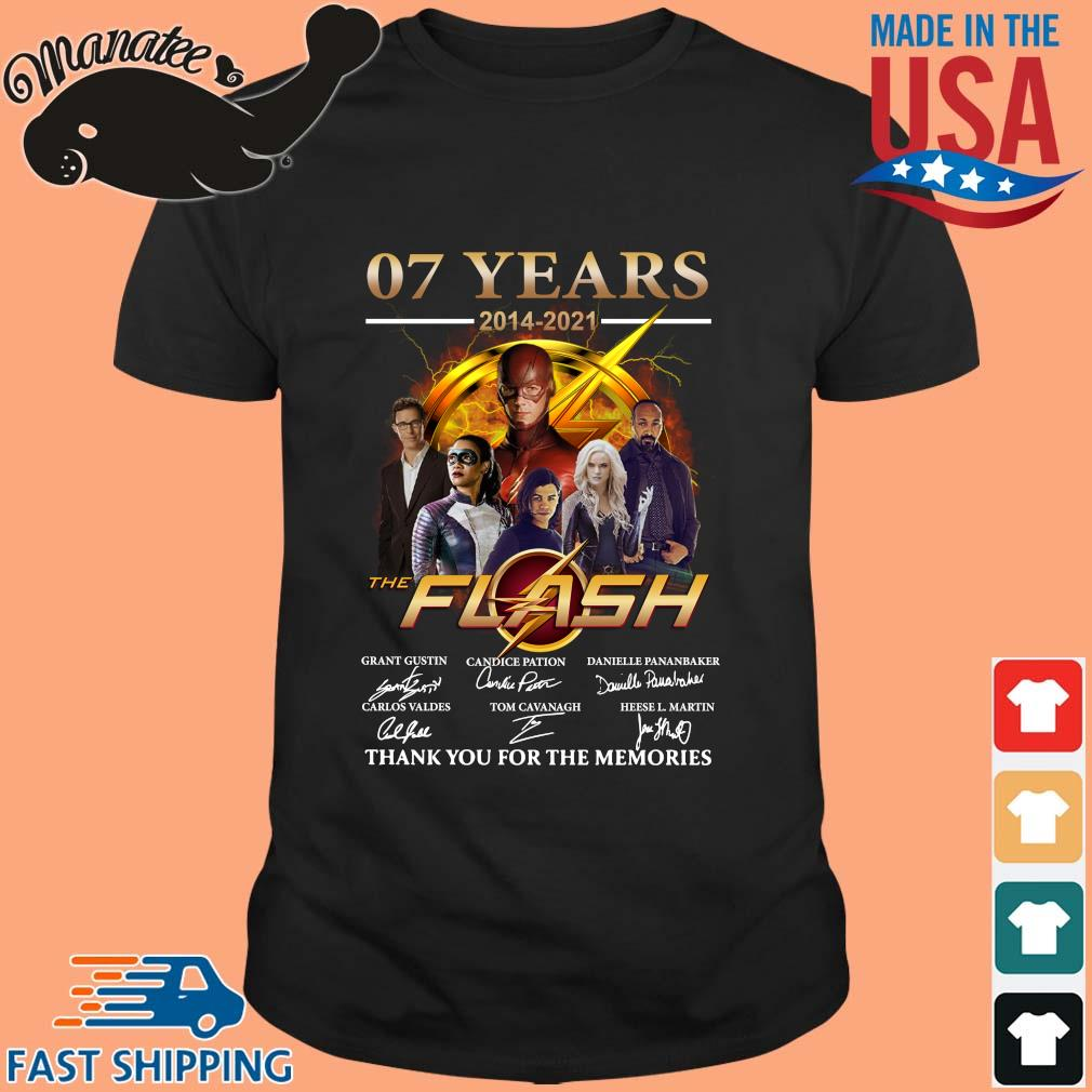 07 years 2014-2021 The Flash thank you for the memories signatures shirt