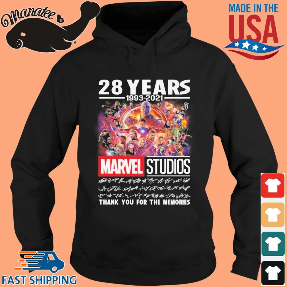 28 years 1993-2021 Marvel Studios thank you for the memories signatures s hoodie den