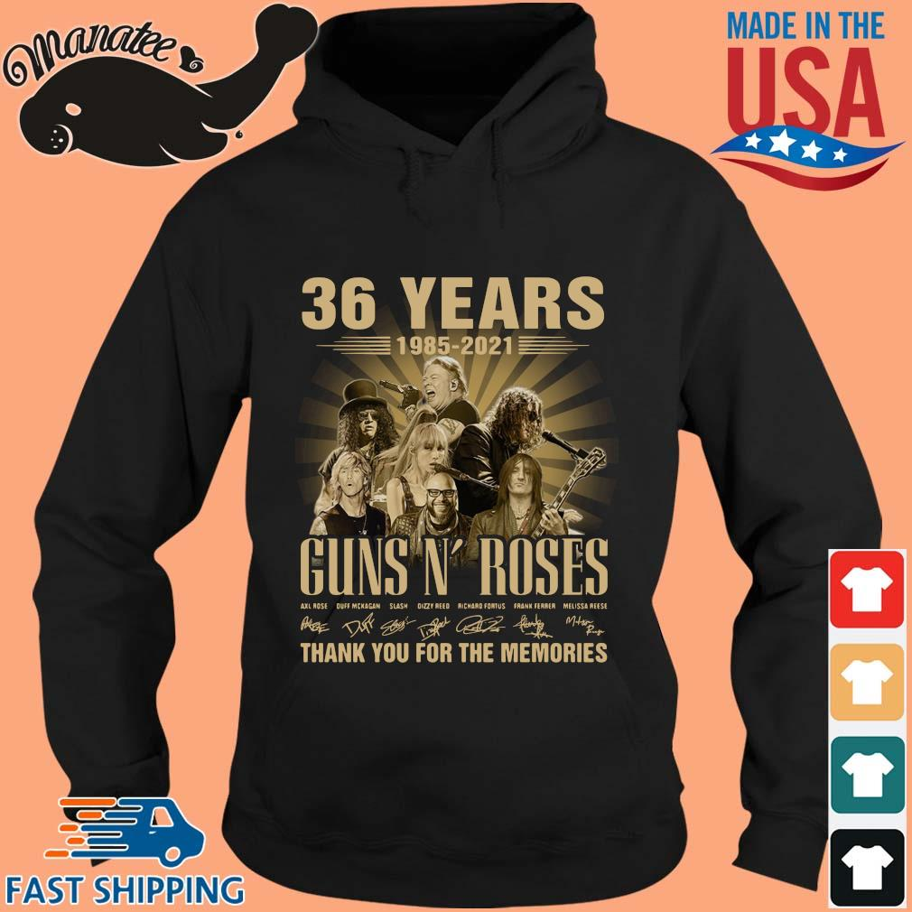 36 Years 1985 2021 Guns N Roses Signatures Thank You Shirt hoodie den