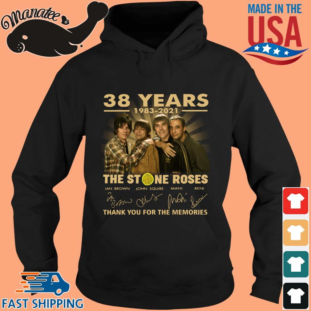 38 years 1983-2021 The Stone Roses thank you for the memories signatures s hoodie den