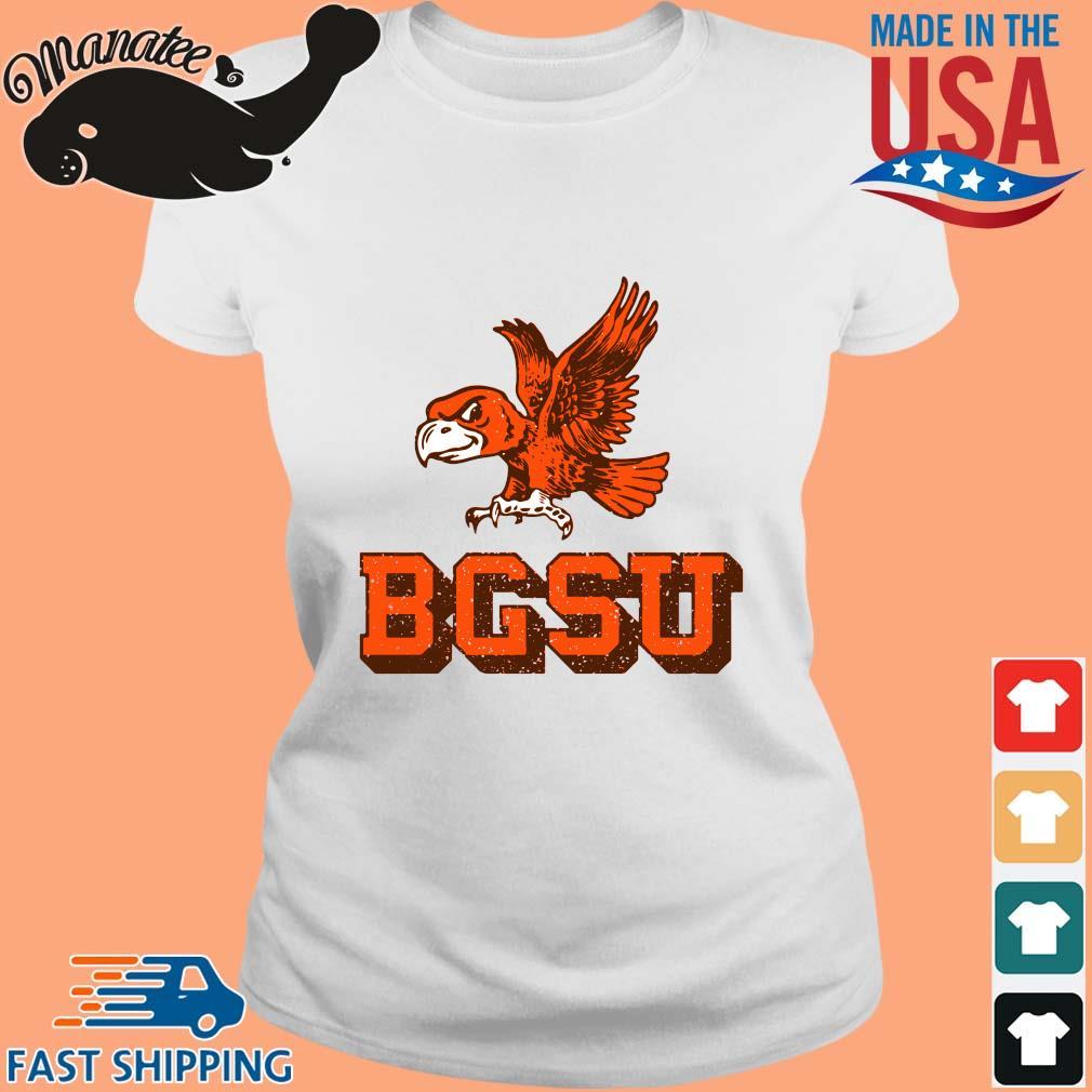 Bowling Green State University Flying Falcon Shirt Ladies trang