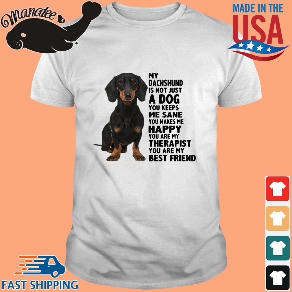 My Dachshund Is Not Just A Dog You Keeps Me Sane You Makes Me Happy You Are My Therapist Shirt