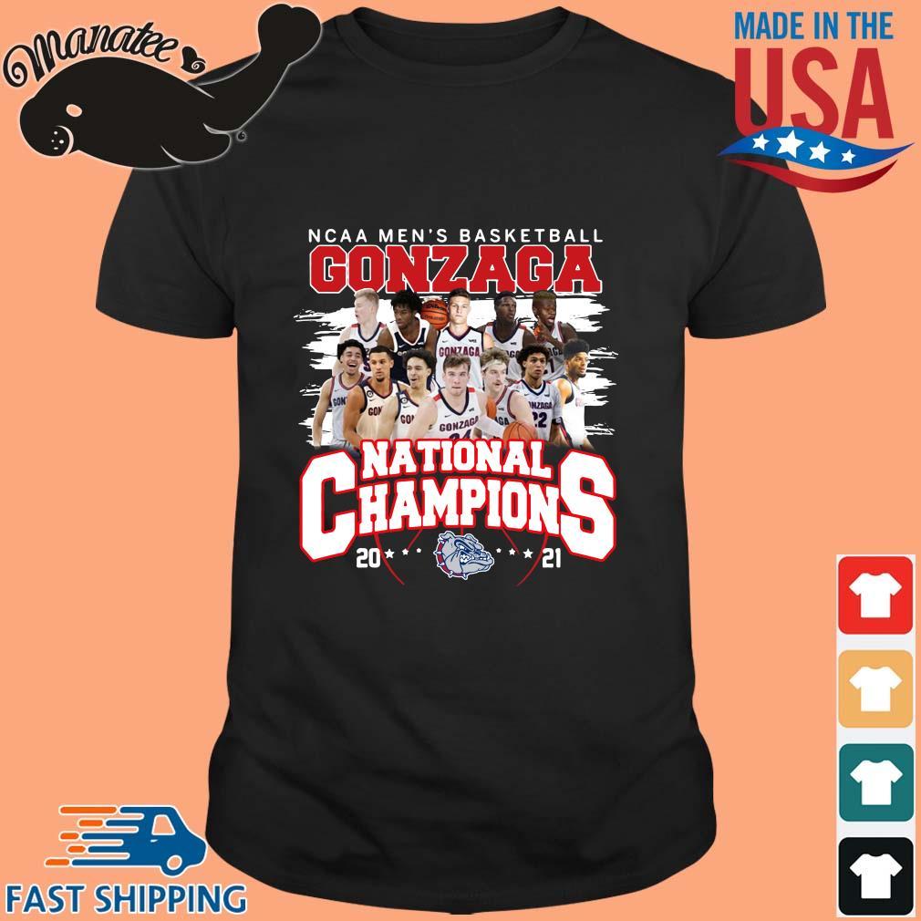 Ncaa men_s basketball Gonzaga Bulldogs national champions 2021 shirt