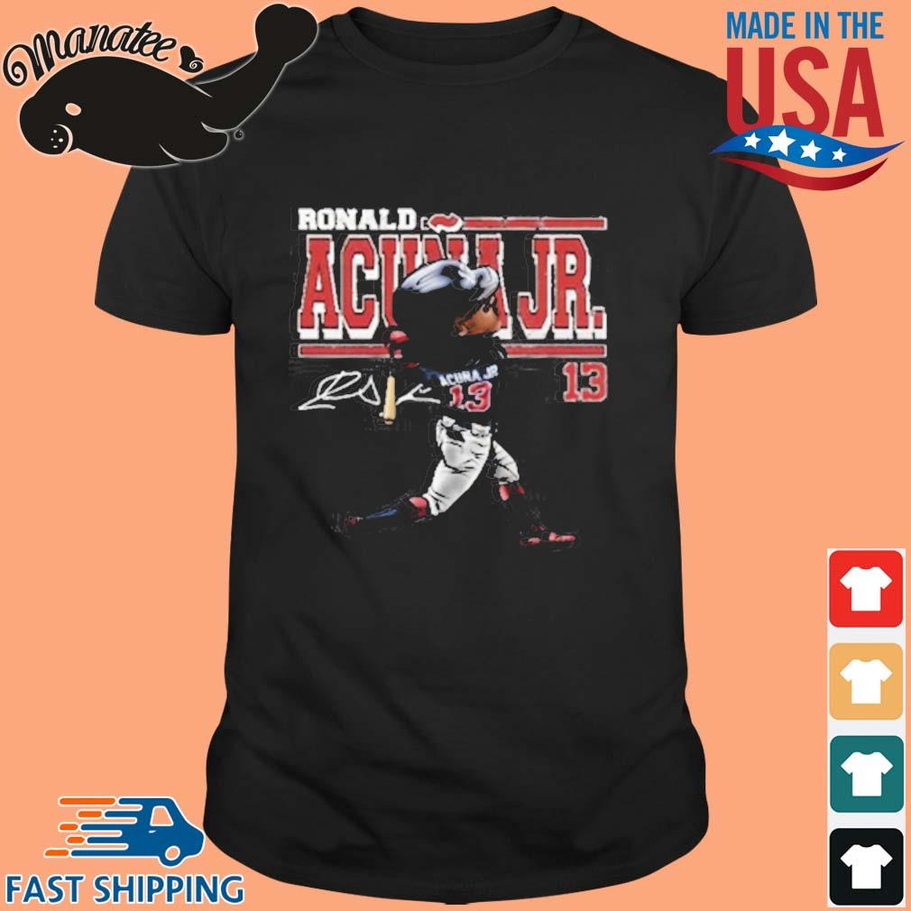 Ronald Acuna Jr Cartoon Signature Shirt