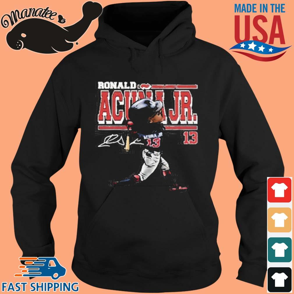 Ronald Acuna Jr Cartoon Signature Shirt hoodie den