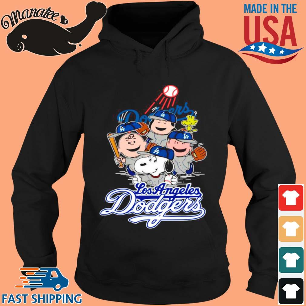 Snoopy Woodstock And The Peanuts Los Angeles Dodgers Baseball Shirt hoodie den
