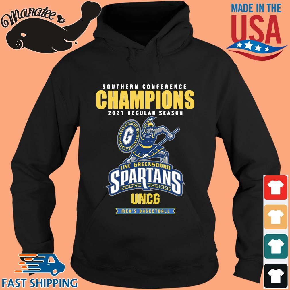 Southern Conference Champions 2021 Regular Season Unc Greensboro Spartans Uncg Men's Basketball Shirt hoodie den