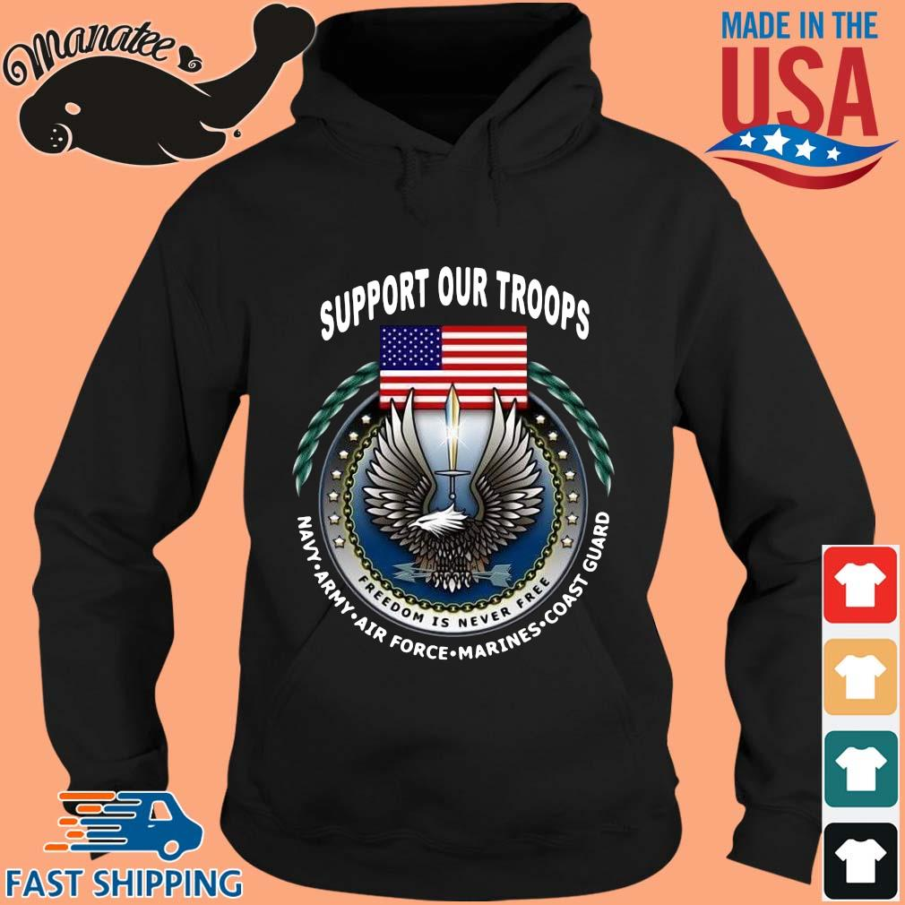 Support our troops navy army American flag s hoodie den