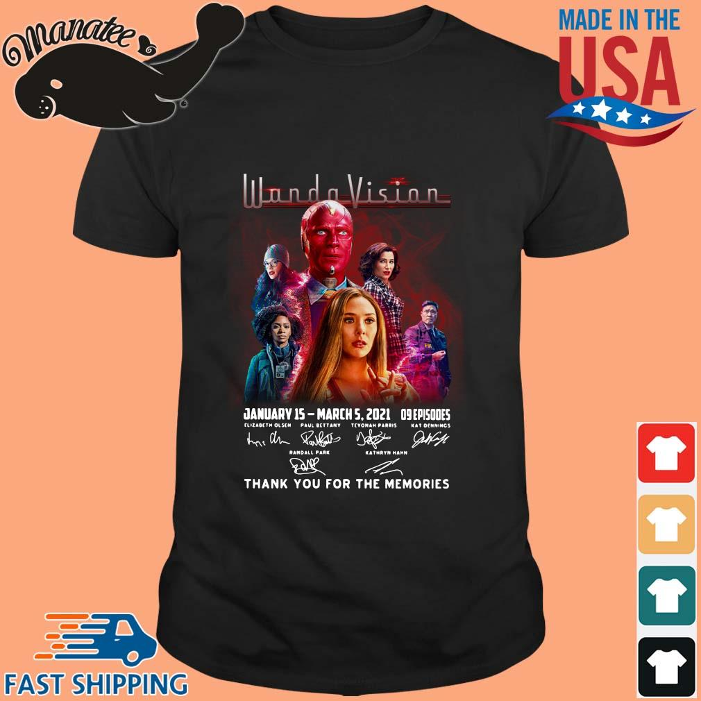 Wandavision January 15 march 5 2021 thank you for the memories signatures shirt