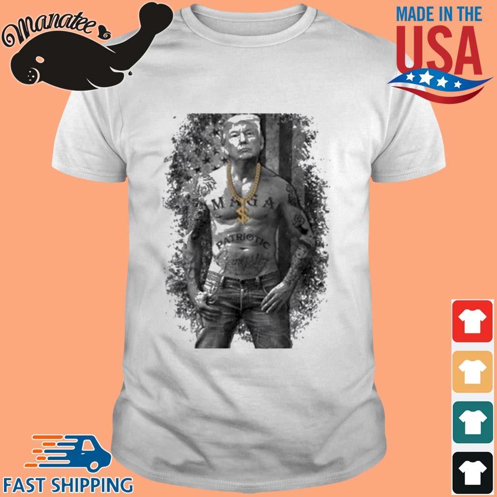 Donald Trump Tattoo American Flag Shirt