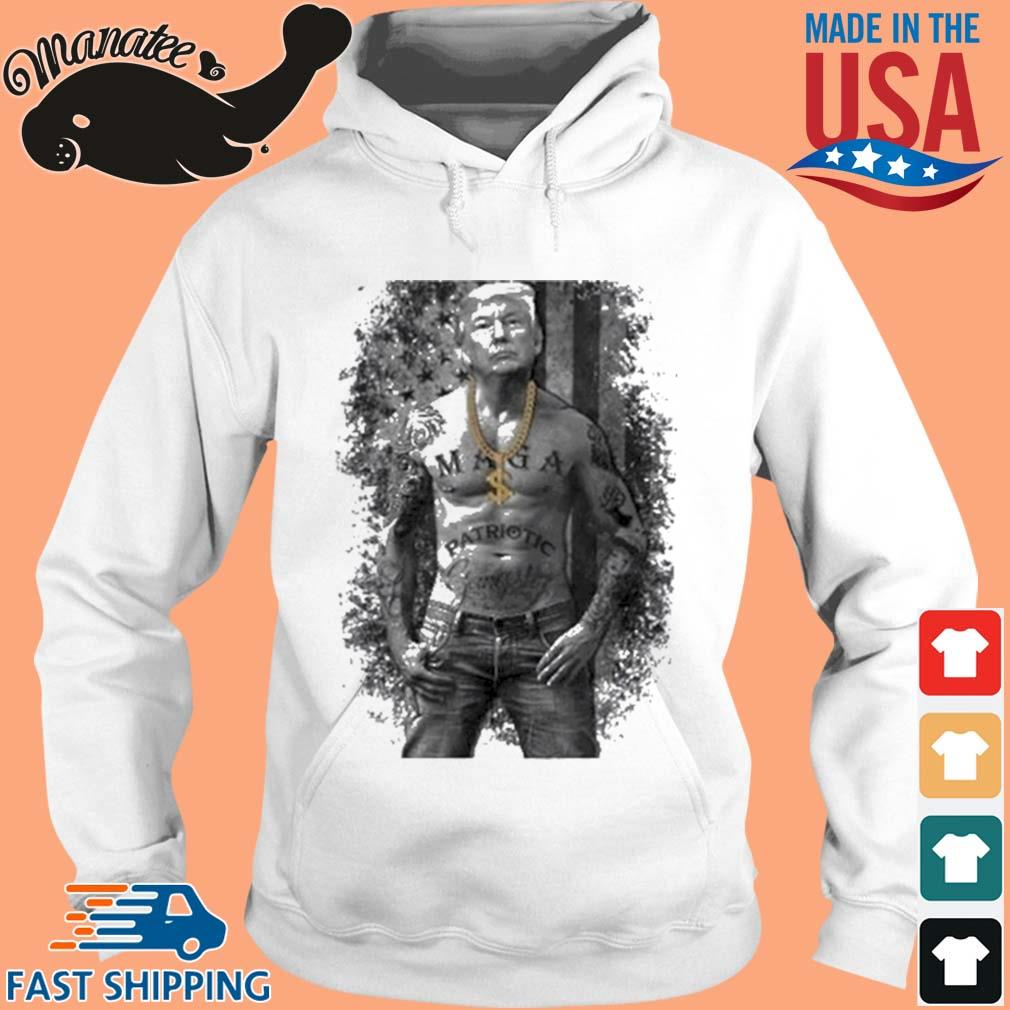 Donald Trump Tattoo American Flag Shirt hoodie trang