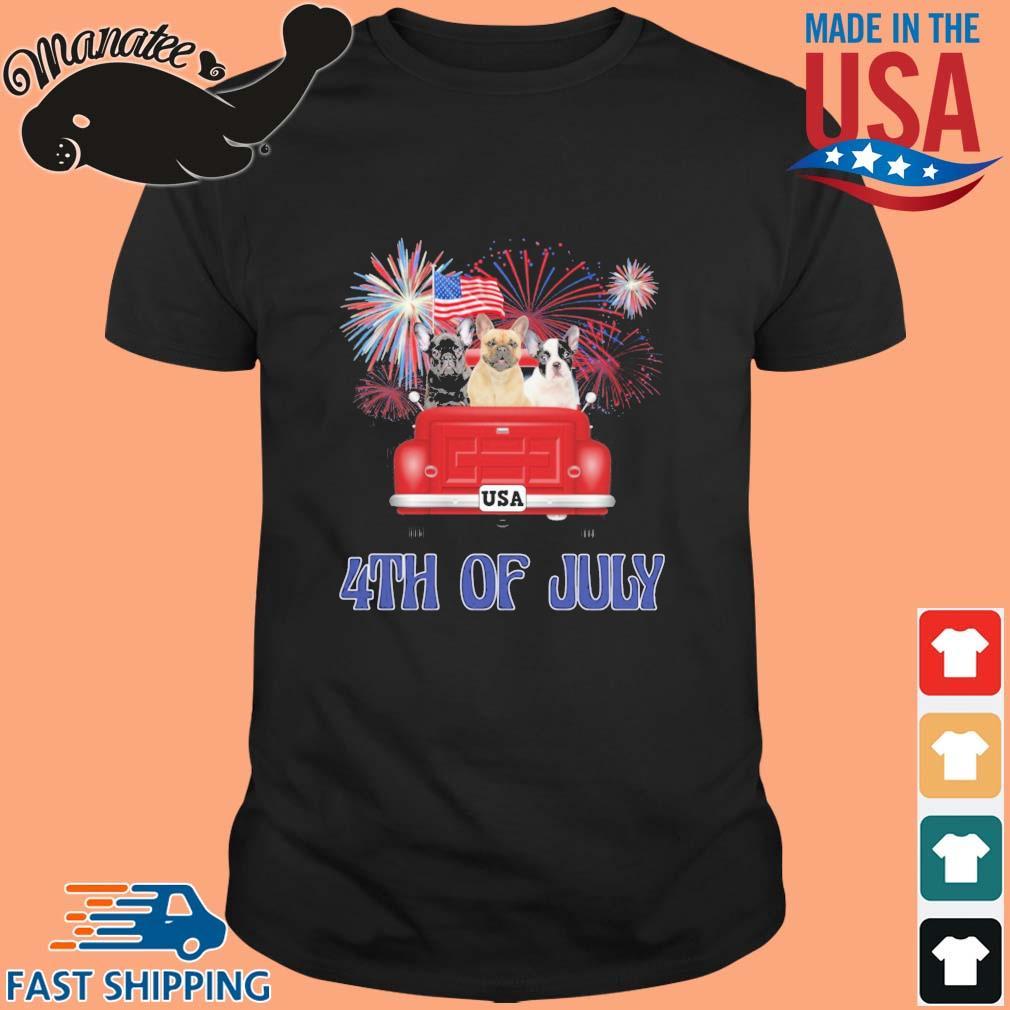 French Bulldog 4th Of July American Flag Shirt