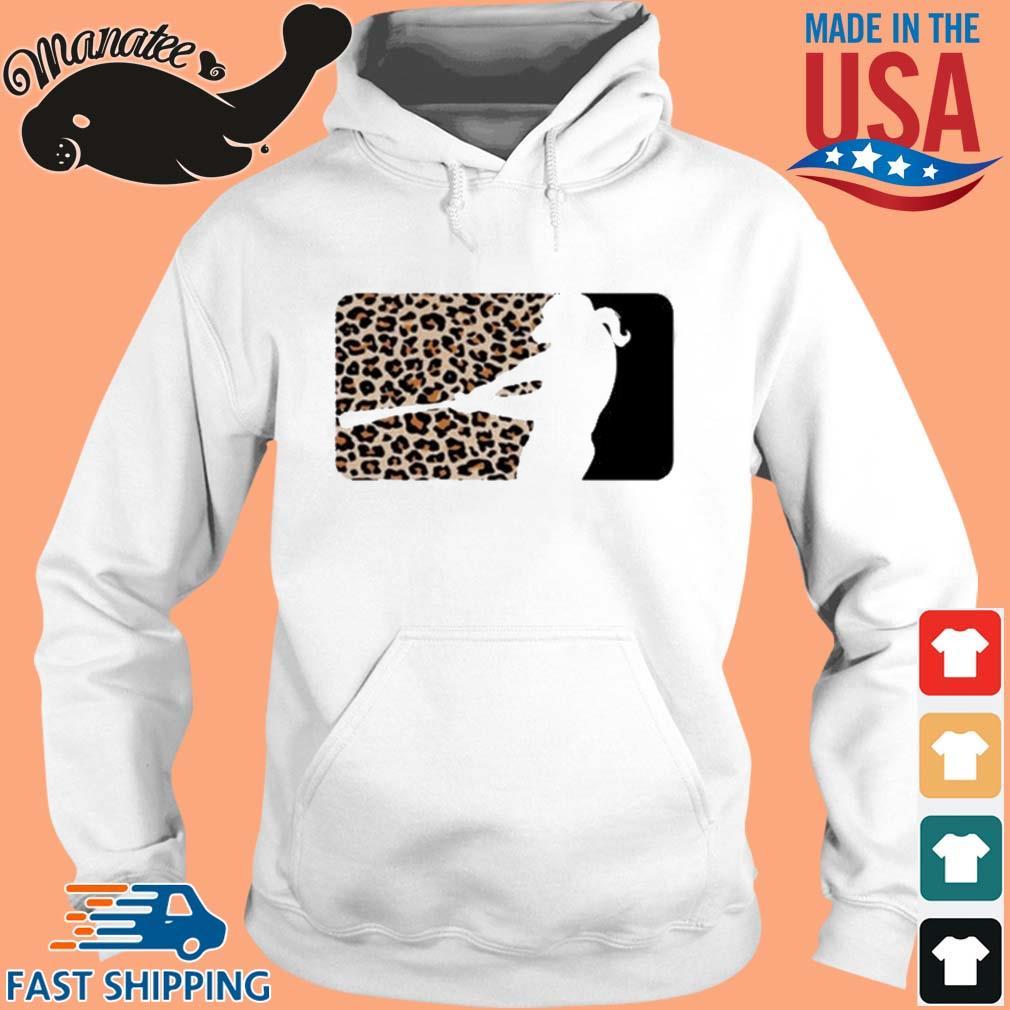 Leopard MLB softball Sublimated Shirt hoodie trang