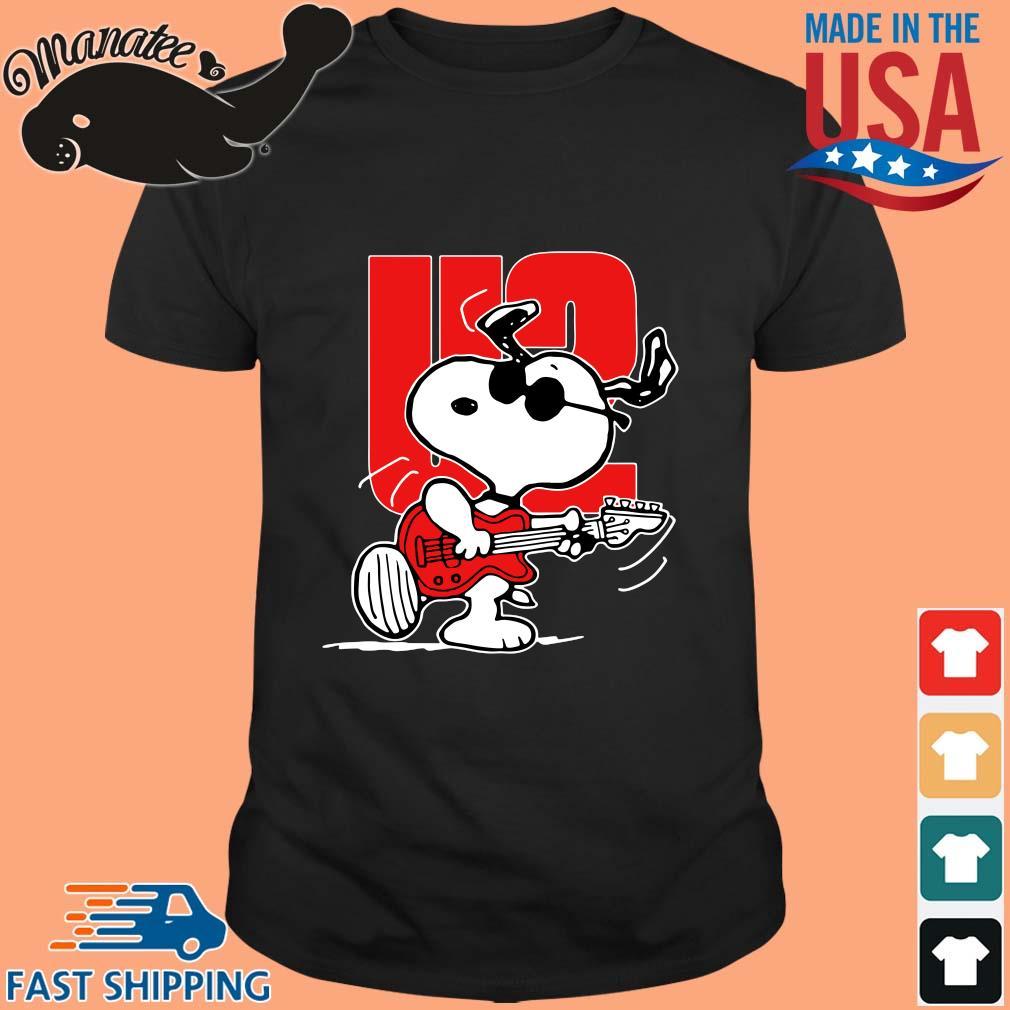 Snoopy playing guitar U2 shirt