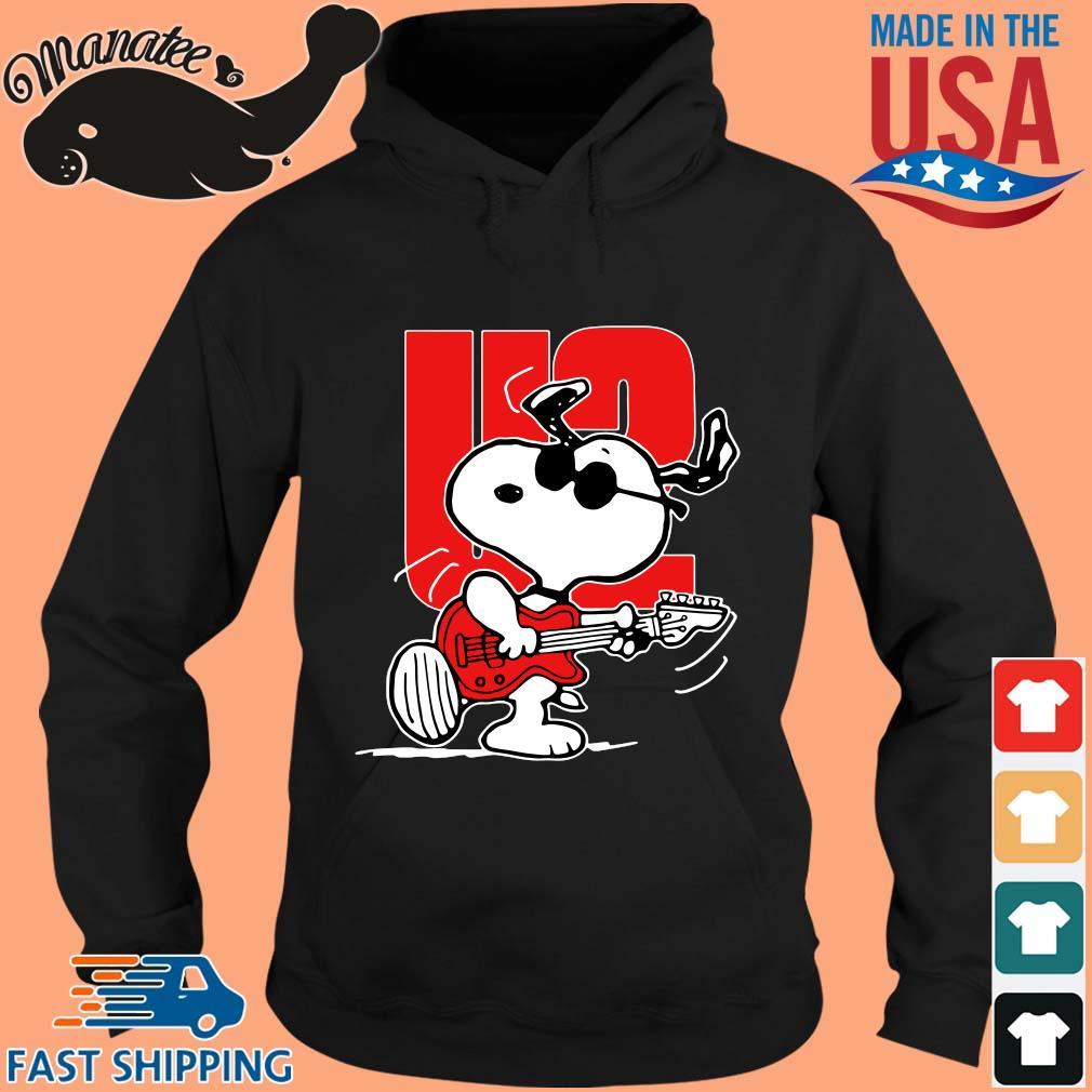 Snoopy playing guitar U2 s hoodie den