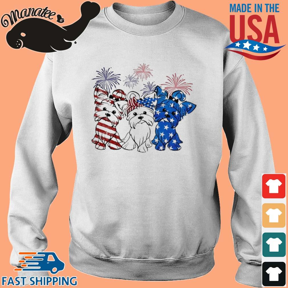 Yorkshire Terrier Flag Colors Yorkie Lovers Shirt Sweater trang