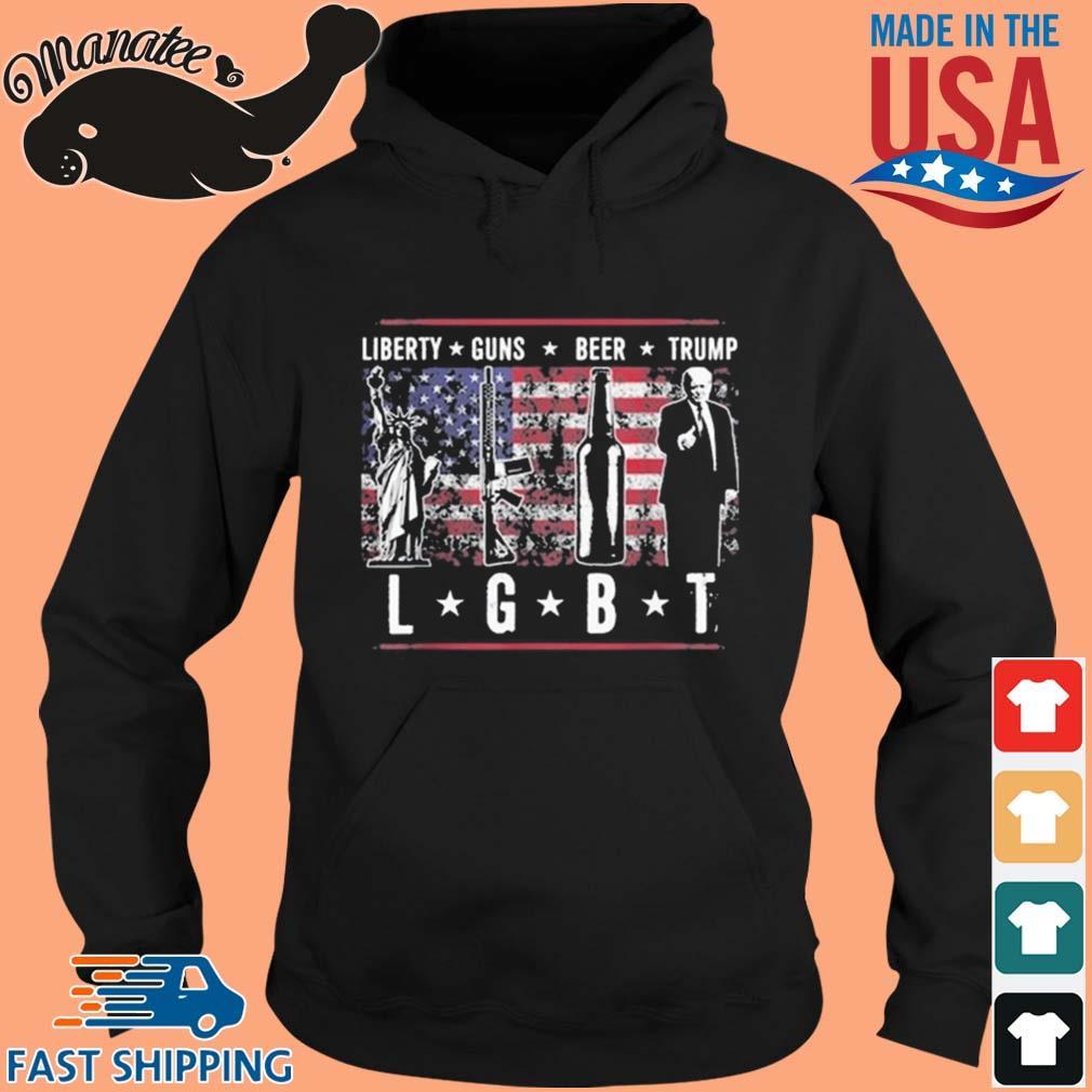 Liberty Guns Beer Trump LGBT American Flag Shirt hoodie den