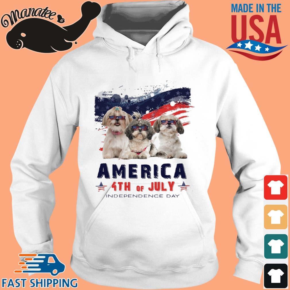 Shih Tzu America 4th Of July Independence Day Shirt hoodie trang