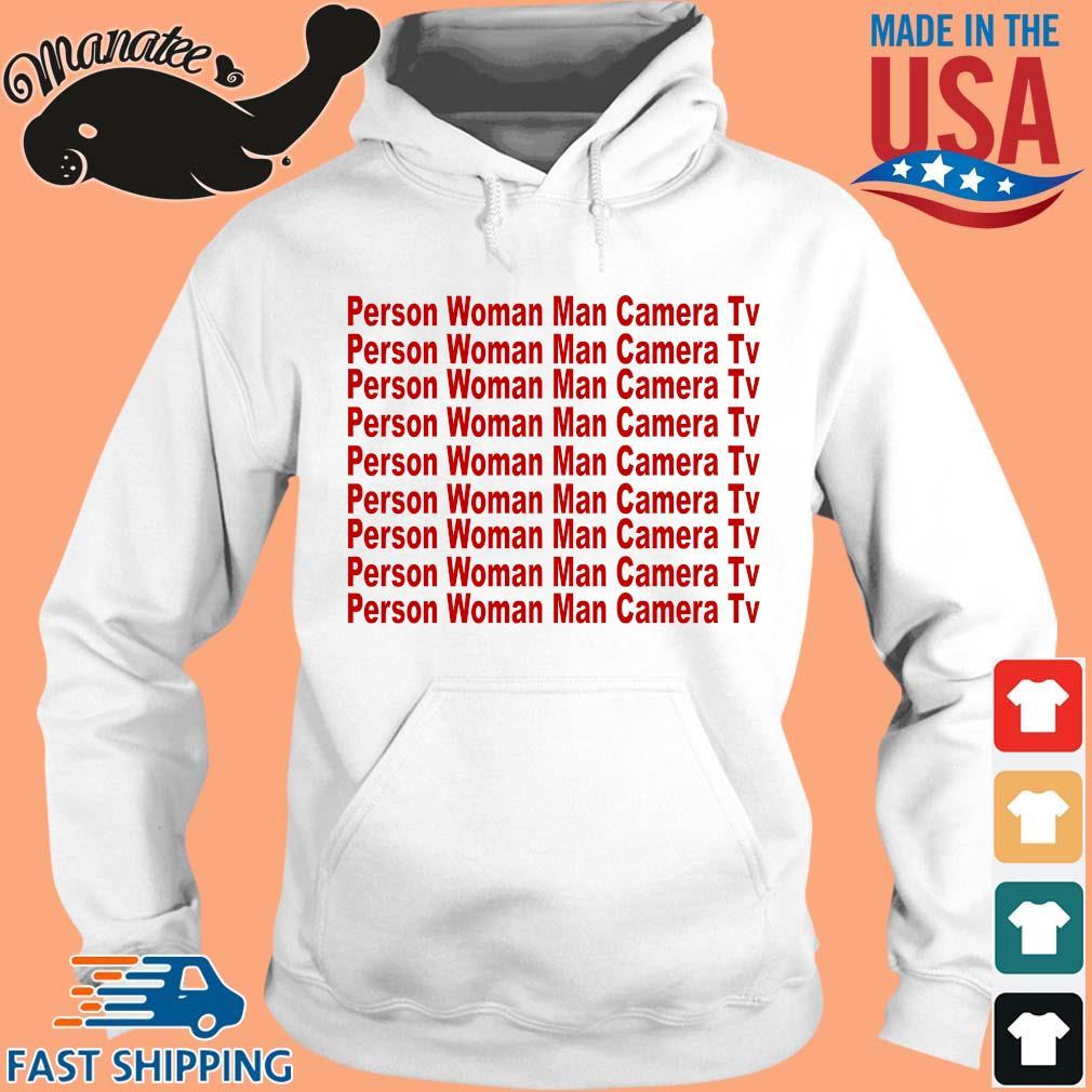 19-front-Person woman man camera TV text shirt-tee hoodie trang