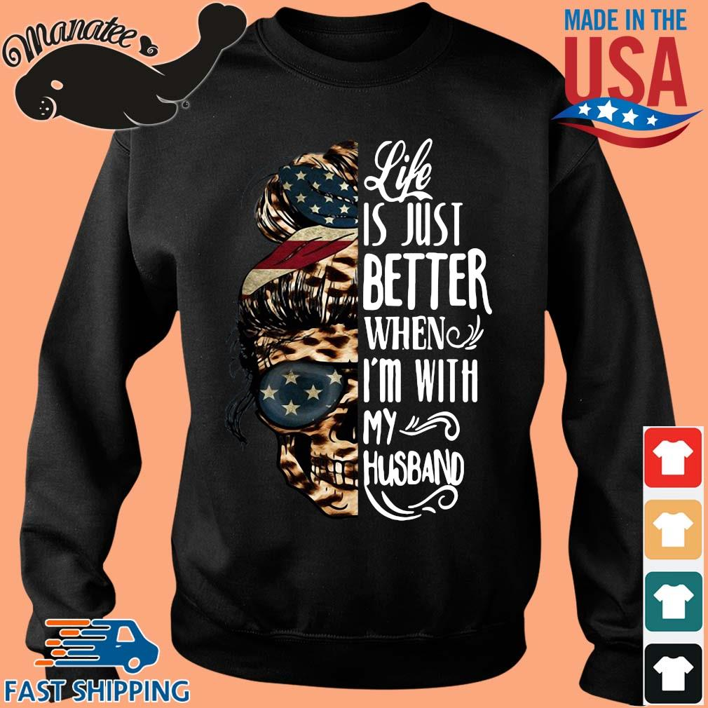 American Skull leopard life is just better when I'm with my husband s Sweater den