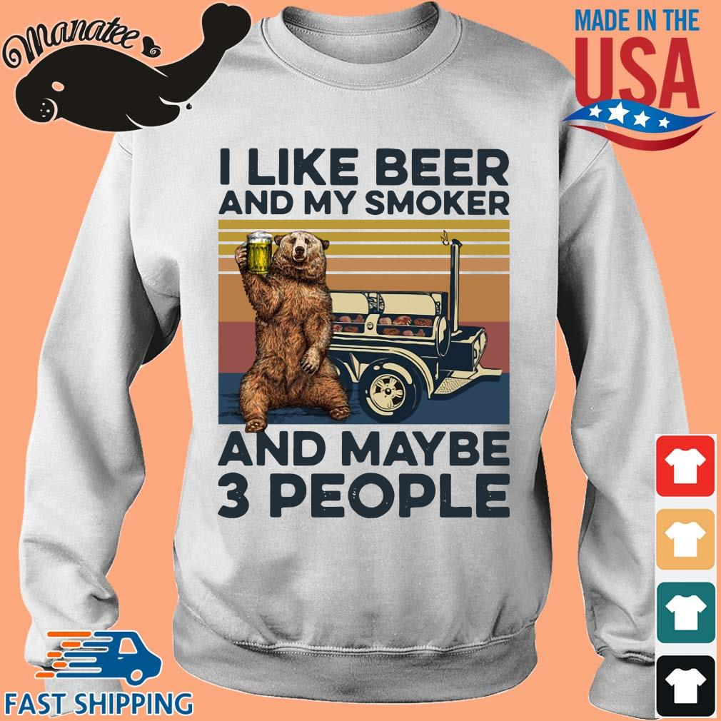 Bear I like beer and my smoker and maybe 3 people vintage tee s Sweater trang