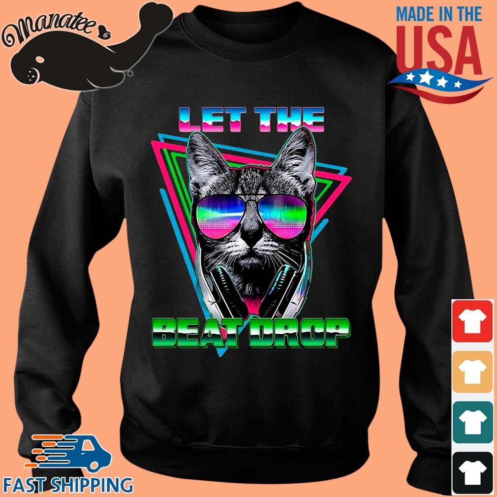 Black cat let the beat drop s Sweater den