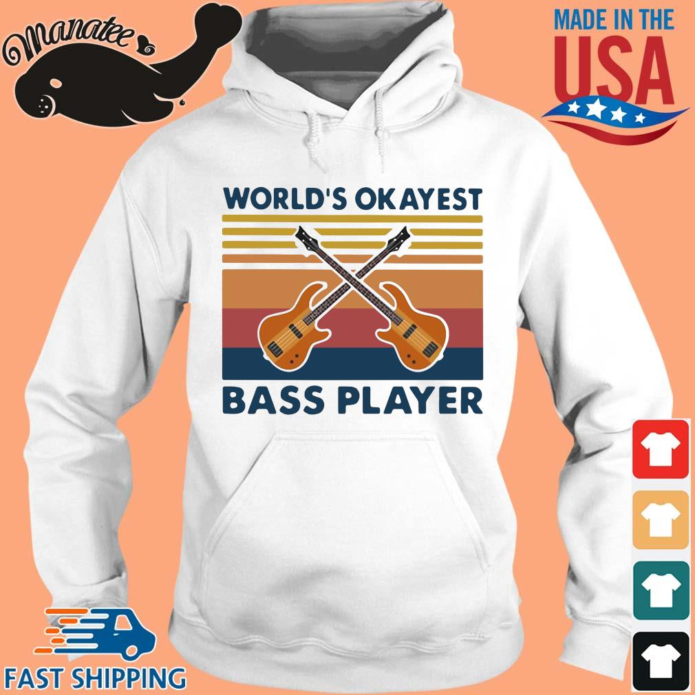 Guitars world's okayest bass player vintage s hoodie trang