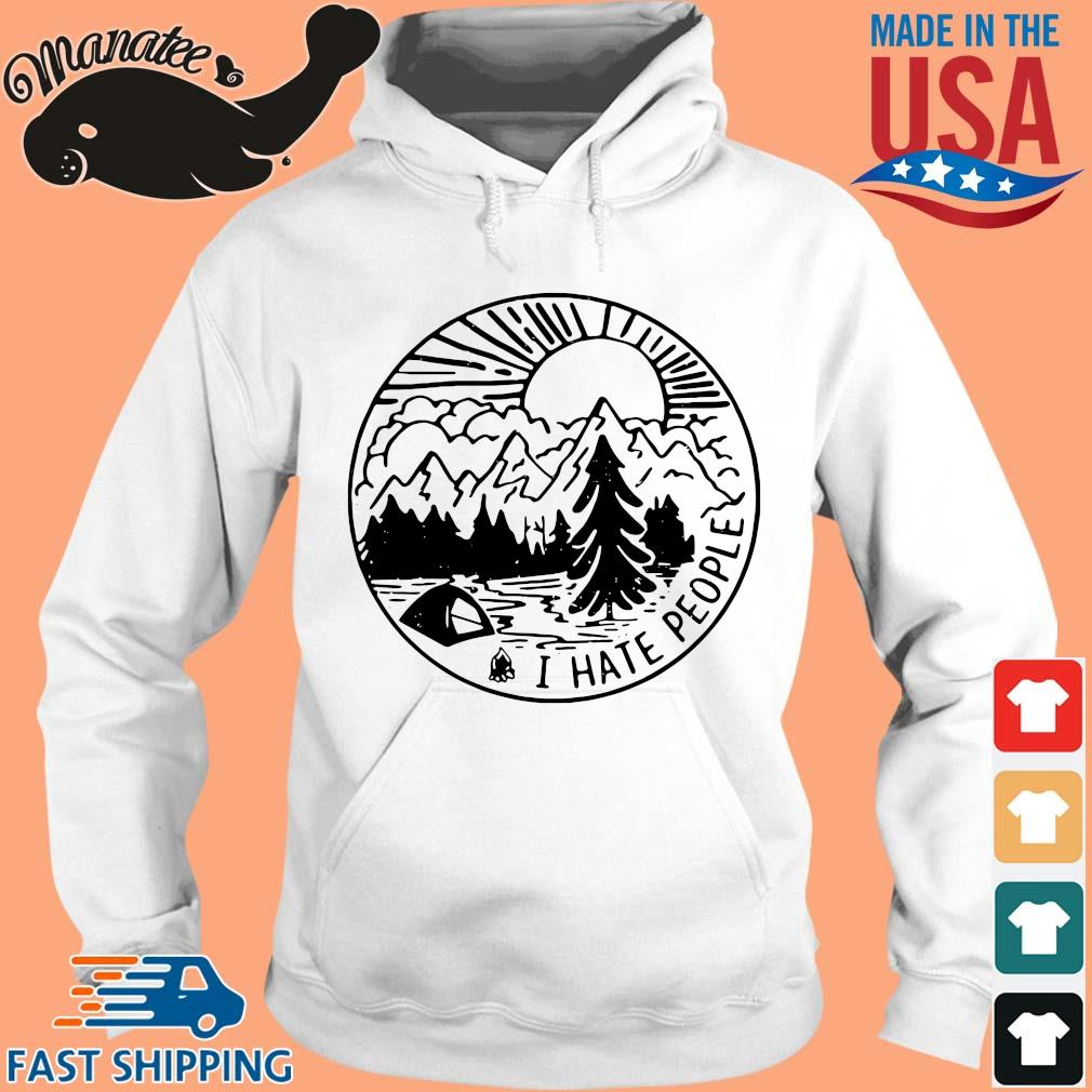 I hate people camping s hoodie trang