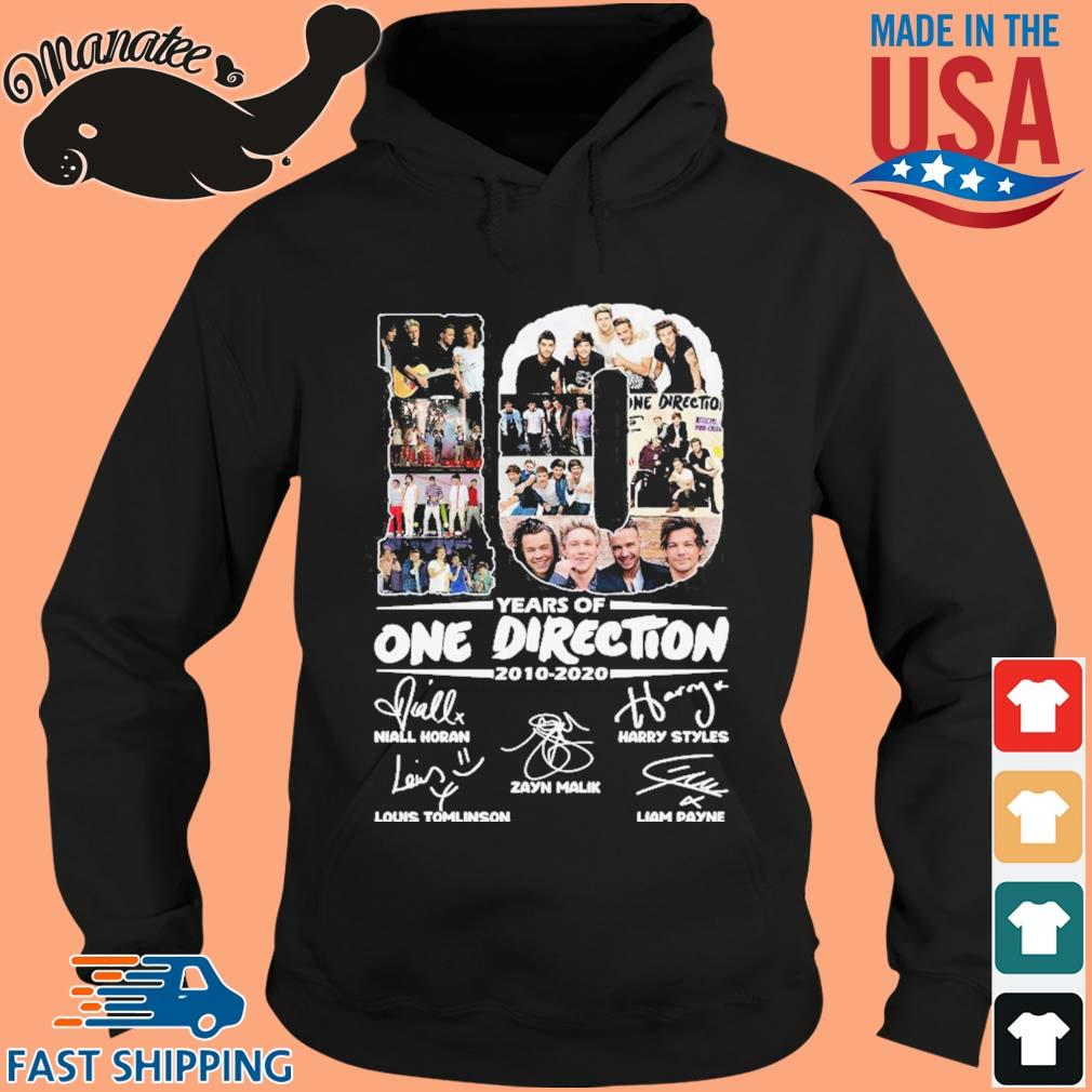10 Years Of One Direction 2010-2020 Signatures Shirt hoodie den
