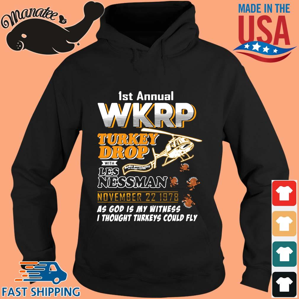 1st annual wkrp turkey drop with Les Nessman November 22 1978 tee s hoodie den